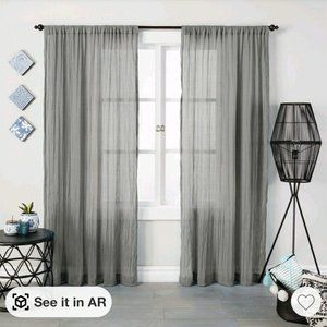 Opalhouse 84×42 Crushed Sheer Curtain Panel
